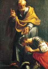 Peter Baptizing Cornelius the Centurion Trevisani 1709