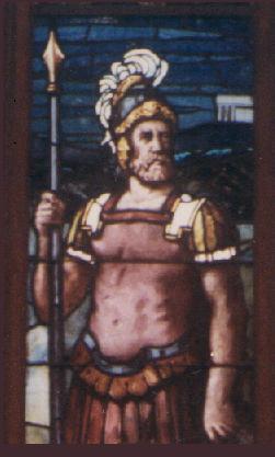 Click to enter the Chapel - Main Window, Sanctuary, Chapel of the Centurion, Fort Monroe -