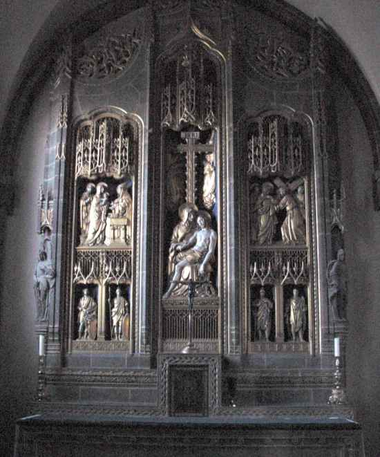 Memorial Chapel Altarpiece, Ampleforth, Abbey, York, England
